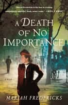 A Death of No Importance - A Novel ebook by Mariah Fredericks