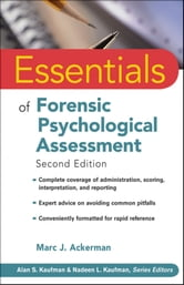 Essentials of Forensic Psychological Assessment ebook by Marc J. Ackerman