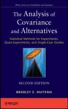 The Analysis of Covariance and Alternatives ebook by Bradley Huitema
