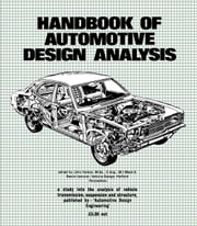 Handbook of Automotive Design Analysis ebook by Fenton, John