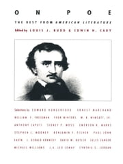 On Poe - The Best from American Literature ebook by Louis J. Budd,Edwin H. Cady