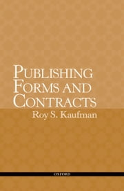 Publishing Forms and Contracts ebook by Roy Kaufman