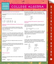 College Algebra (Speedy Study Guides) ebook by Speedy Publishing