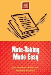 Note-Taking Made Easy ebook by Kesselman-Turkel, Judi