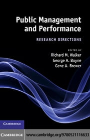 Public Management and Performance ebook by Walker, Richard M.