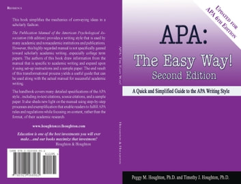 apa the easy way for apa 6th edition ebook by peggy m houghton rh kobo com MLA Manual MLA Manual