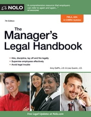 Manager's Legal Handbook, The ebook by Amy Delpo,Lisa Guerin