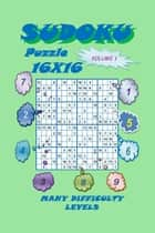 Sudoku Puzzle 16X16, Volume 1 ebook by YobiTech Consulting
