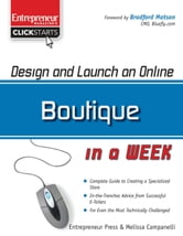 Design and Launch an Online Boutique in a Week ebook by Melissa Campanelli
