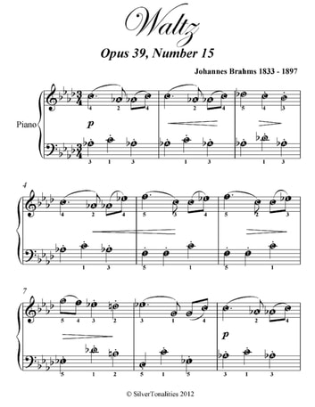 Waltz opus 39 number 15 easy piano sheet music ebook by johannes waltz opus 39 number 15 easy piano sheet music ebook by johannes brahms fandeluxe Image collections