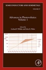 Advances in Photovoltaics:Part 1 ebook by Eicke R. Weber,Gerhard P. Willeke