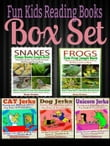 Fun Kids Reading Books Box Set: SNAKES: Creepy Snake Jungle Book: Hilarious Memes For Kids - Weird & Funny Stuff To Learn About Amazing Snakes + FROGS + Cat Jerks + Dog Jerks + Unicorn Jerks