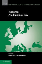 European Condominium Law ebook by Cornelius Van Der Merwe