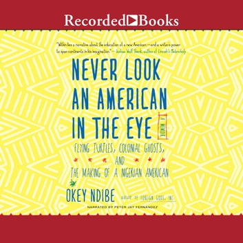 Never Look an American in the Eye - A Memoir of Flying Turtles, Colonial Ghosts, and the Making of a Nigerian American audiobook by Okey Ndibe