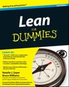 Lean For Dummies ebook by Natalie J. Sayer, Bruce Williams