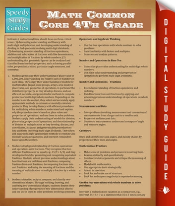 Math Common Core 4Th Grade ebook by Speedy Publishing