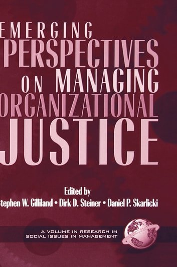 Emerging Perspectives on Managing Organizational Justice ebook by