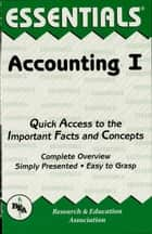 Accounting I Essentials ebook by Duane Milano