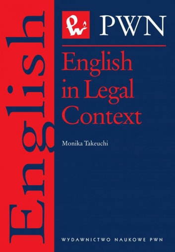 English in Legal Context ebook by Monika Takeuchi