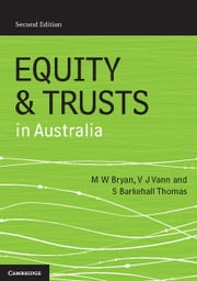 Equity and Trusts in Australia ebook by Michael Bryan, Vicki Vann, Susan Barkehall Thomas