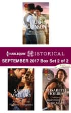 Harlequin Historical September 2017 - Box Set 2 of 2 - Winning the Mail-Order Bride\Pursued for the Viscount's Vengeance\Redeeming the Rogue Knight ebook by Lauri Robinson, Sarah Mallory, Elisabeth Hobbes