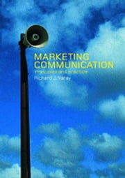 Marketing Communication - A Critical Introduction ebook by Richard Varey