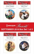 Harlequin Presents September 2018 - Box Set 1 of 2 - The Greek's Blackmailed Mistress\Princess's Nine-Month Secret\Claiming His Wedding Night\A Ring to Take His Revenge ekitaplar by Lynne Graham, Kate Hewitt, Abby Green,...