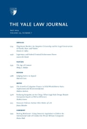 Yale Law Journal: Volume 123, Number 7 - May 2014 ebook by Yale Law Journal