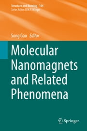 Molecular Nanomagnets and Related Phenomena ebook by