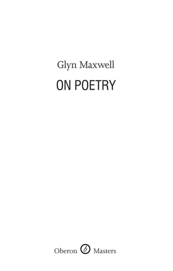 On Poetry ebook by Glyn Maxwell