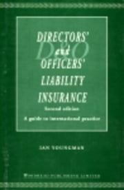 Directors' and Officers' Liability Insurance ebook by Youngman, Ian