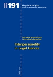 Interpersonality in Legal Genres ebook by Ruth Breeze,Maurizio Gotti,Carmen Sancho Guinda