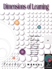 Dimensions of Learning Teacher's Manual, 2nd Ed. ebook by Marzano, Robert J.