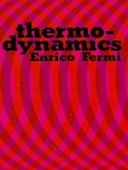 Thermodynamics ebook by Enrico Fermi