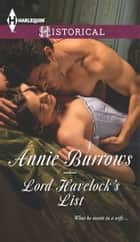 Lord Havelock's List ebook by Annie Burrows