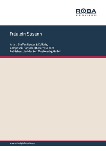 Fräulein Susann - Single Songbook ebook by Hans Hardt,Harry Sander