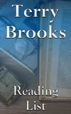 Terry Brooks - Reading List ebook by Edward Peterson