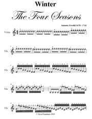 Winter Four Seasons Easy Violin Sheet Music PDF ebook by Antonio Vivaldi