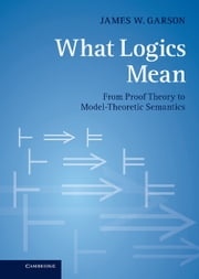 What Logics Mean - From Proof Theory to Model-Theoretic Semantics ebook by James W. Garson