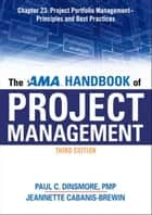 The AMA Handbook of Project Management, Chapter 23 ebook by Paul C. DINSMORE