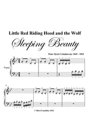 Little Red Riding Hood and the Wolf Beginner Piano Sheet Music ebook by Peter Ilyich Tchaikovsky