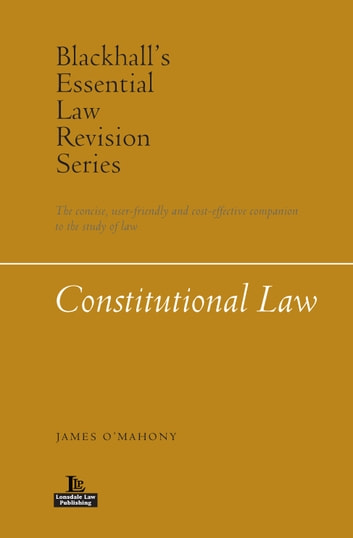 Constitutional Law ebook by James O'Mahony