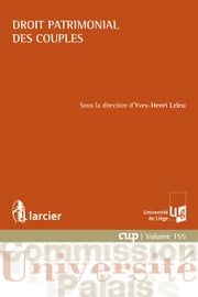 Droit patrimonial des couples ebook by