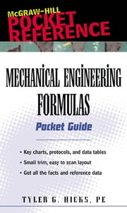 Mechanical Engineering Formulas Pocket Guide ebook by Hicks