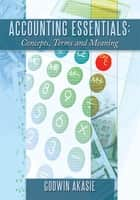 Accounting Essentials: Concepts, Terms and Meaning ebook by Godwin Akasie