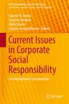 Current Issues in Corporate Social Responsibility - An International Consideration ebook by Samuel O. Idowu, Catalina Sitnikov, Dalia Simion,...