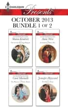 Harlequin Presents October 2013 - Bundle 1 of 2 - An Anthology ebook by Sharon Kendrick, Carol Marinelli, Annie West,...