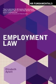 Employment Law ebook by Elizabeth Aylott