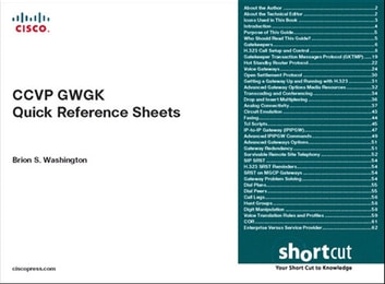 CCVP GWGK Quick Reference Sheets ebook by Brion Washington