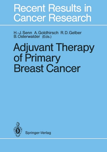 Adjuvant Therapy of Primary Breast Cancer ebook by